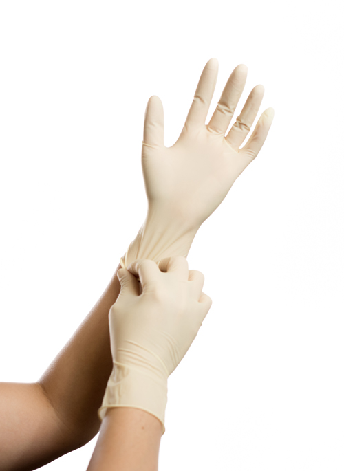 cleanroom compatible latex gloves